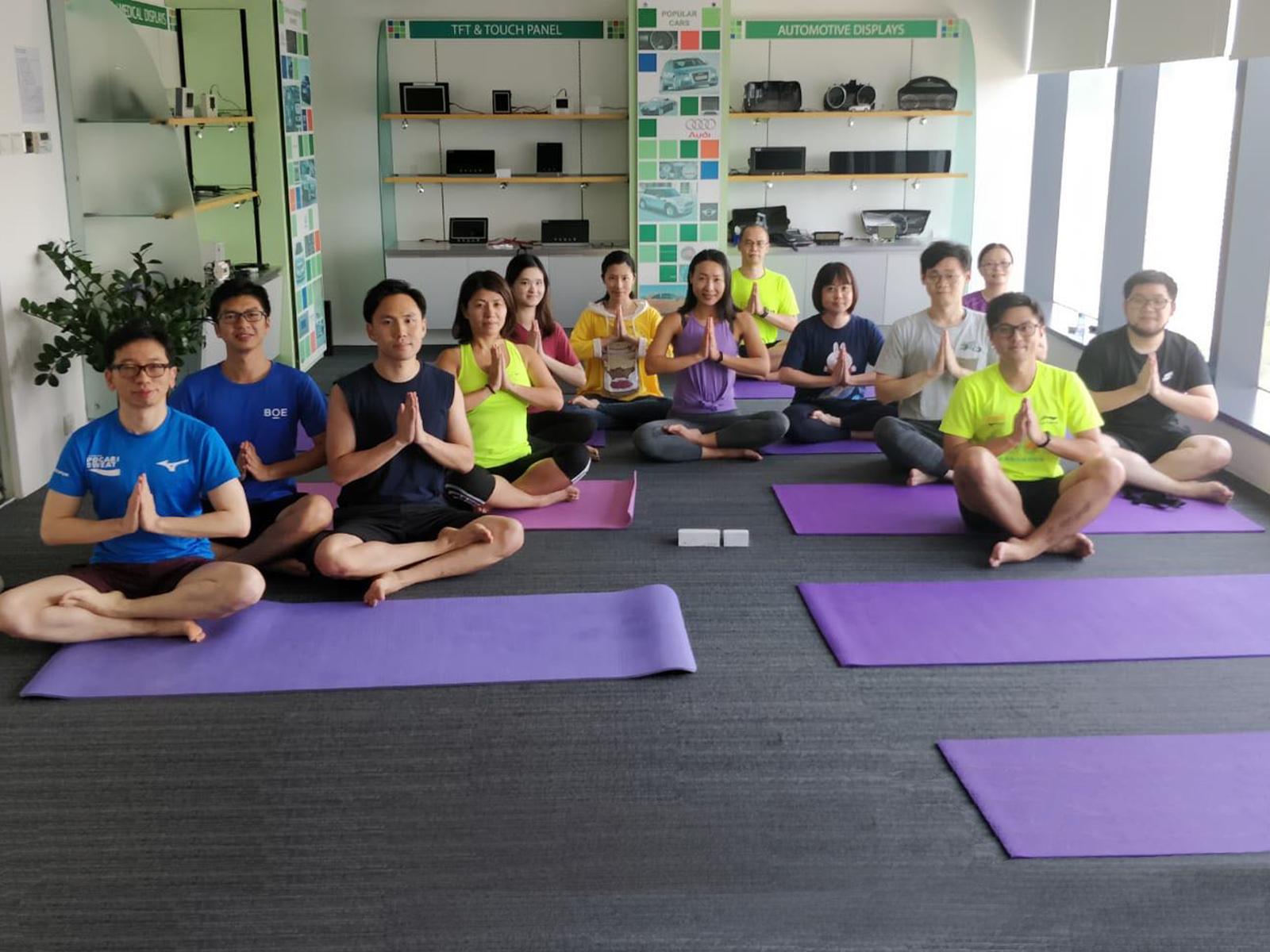 京东方精电瑜伽课